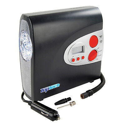 Top Tech 12v Digital Air Tyre Compressor Inflator In Car With Auto Switch Off