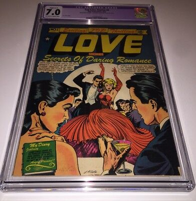 TOP LOVE STORIES #8 CGC 7.0 [ONLY GRADED COPY] Dazzling LB Cole Good-Girl-C 1952