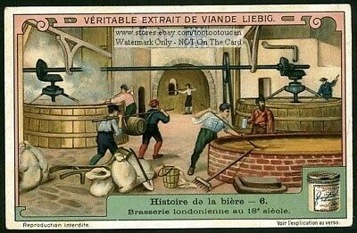 18th Century London England Beer Brewery 1910 Trade Ad  Card