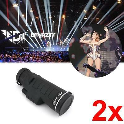 2X PANDA 10X60 Focus Zoom Outdoor Travel HD OPTICS BK4 Monocular Telescope #M