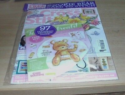 The World of Cross Stitching magazine #265 2018 + Cookie Bear Card Kit