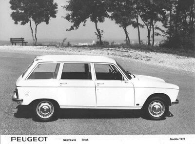1976 Peugeot 204 Station Wagon ORIGINAL Factory Photo oua1709