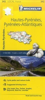 Hautes-Pyrenees, Pyrenees-Atlantiques Michelin Local Map 342 (Michelin Local Ma.