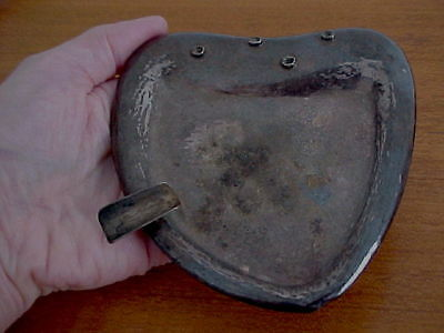 SPANISH MODERNIST ASHTRAY HAND-HAMMERED SILVER, 66.4 grams, Spain, As Found