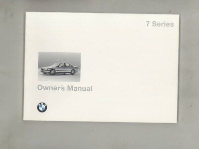 1996 BMW US 740 740i 740iL 750 750iL MINT ORIGINAL Owner's Manual wy9974