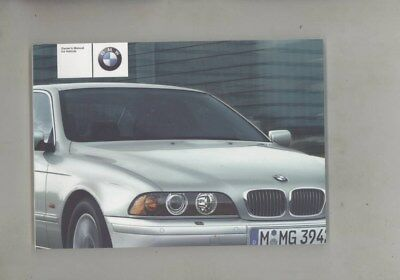 2002 BMW US 525 525i 530 530i 540 540i MINT ORIGINAL Owner's Manual wy9987