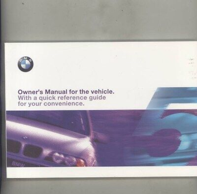 1999 BMW US 528 528i 540 540i MINT ORIGINAL Owner's Manual wy9990