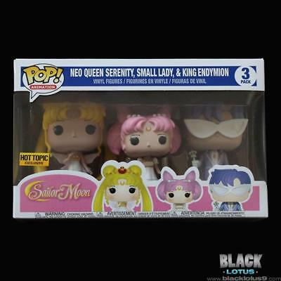 Funko Pop! Neo Queen Serenity Small Lady King Endymion Sailor Moon Hot Topic Pop