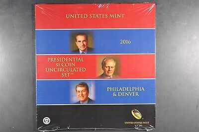 2016 P&D Presidential $1 coin uncirculated set - UN-opened