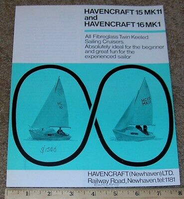 MCKEAN SAILBOAT BOAT Pram Dealer Sales Brochure BLUE-JAY