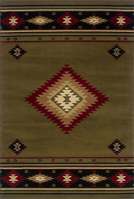2x8 Runner Sphinx Lodge Brown Southwest 087J1 Area Rug - Approx 1' 10' x 7' 6""
