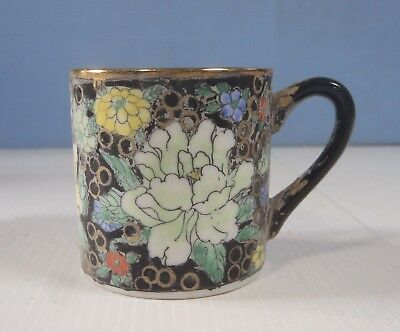 Antique Canton Hand painted Famille Rose Porcelain Cup circa 1920 to 1940