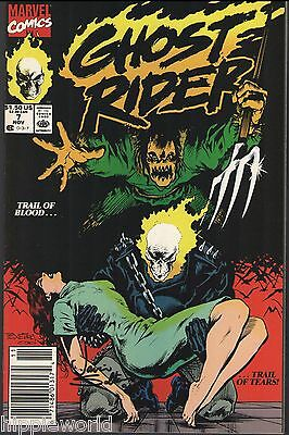 Ghost Rider Vol. 2 No. 7 Marvel Comics 1990 signed autograph by Javier Saltares