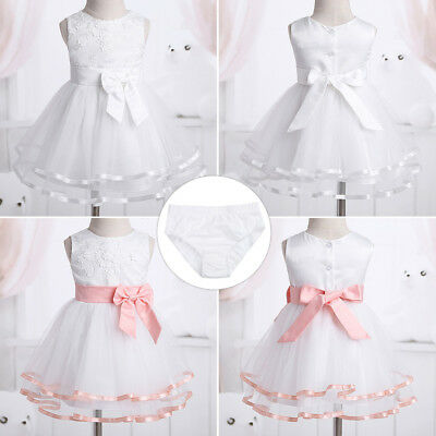 Infant Girl Baby Flower Party Occasion Wedding Communion Christening Dress Gown