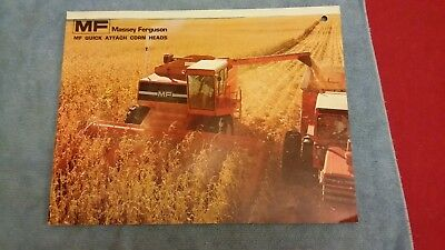 Massey Ferguson  Dealer Sales Brochure  Mf Quick Attach Corn Heads