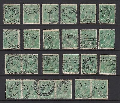 1923 1½d GREEN KGV OFFICIAL, 24 stamps, USED