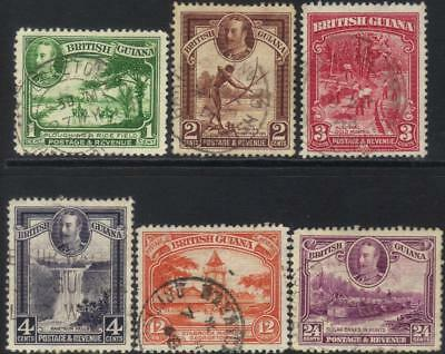 British Guiana 1934-1951 Defins 6 Used Values Cat £8+