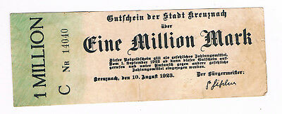 Notgeld 1 Million Mark 1923  Stadt Kreuznach  (G6/53)