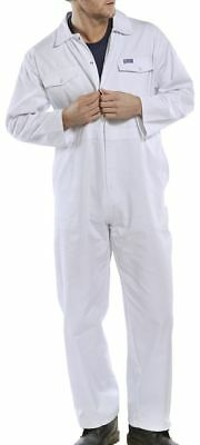 Click White Polycotton Work Overalls Coveralls Boiler Suit Painter Decorator New