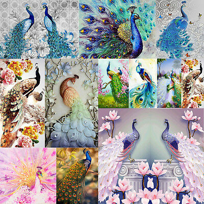 5D Peacock Series Diamond Painting Embroidery DIY Cross Stitch Home Mosaic Craft