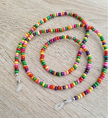 Spectacles Chain Coloured Beads Spectacle Eyeglass Sunglasses Eyewear Glasses
