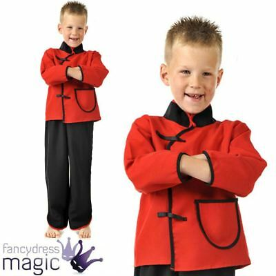 Boys Oriental Traditional Chinese New Year Book Day Week Fancy Dress Costume