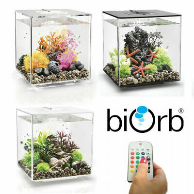 Oase BiOrb Cube 30 Aquarium Fish Tank MCR LED Light Filter Black White Clear 30L