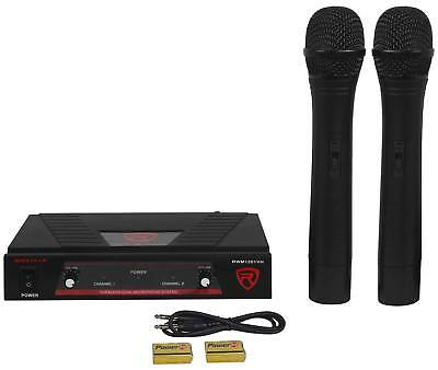 Rockville RWM1201VH VHF Wireless Dual HandHeld Microphone Mic System