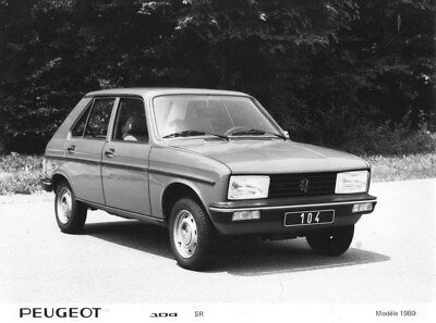 1980 Peugeot 104 SR ORIGINAL Factory Photo oua1813