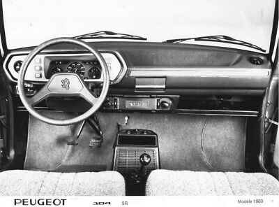 1980 Peugeot 104 SR Wheel & Dashboard ORIGINAL Factory Photo oua1815