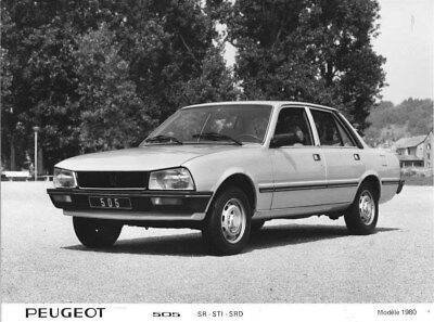 1980 Peugeot 505 SR STI SRD ORIGINAL Factory Photo oua1834
