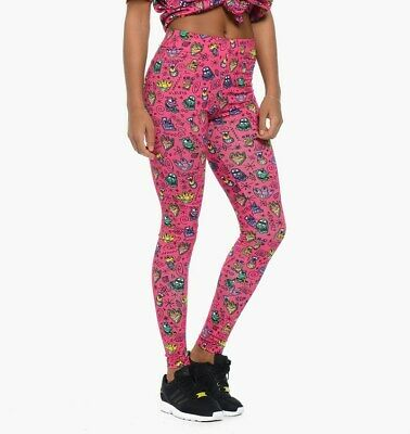 adidas Originals x Jeremy Scott x Kenny Scharf Print Women's Tight Leggings Pink