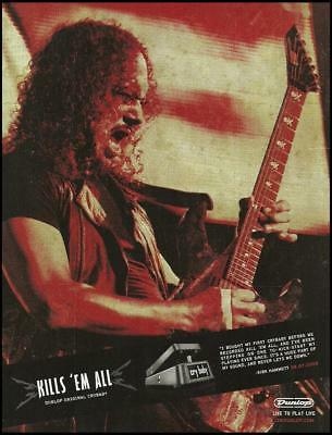 Metallica Kirk Hammett Dunlop Cry Baby Wah Pedal ad 8 x 11 advertisement print