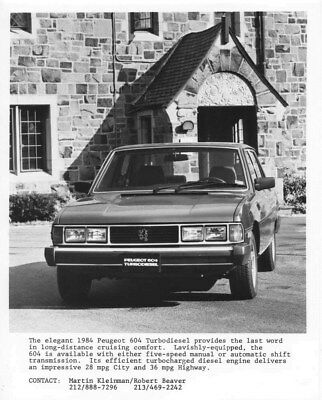 1984 Peugeot 604 Turbodiesel ORIGINAL Factory Photo oua1903