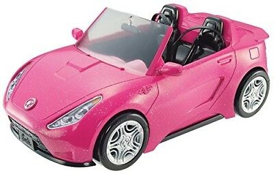 Barbie Glam Convertible Pink Car Doll 2 mattel hot Seats Shine Vehicle Girls Toy