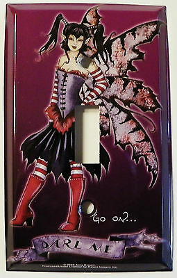 DARE ME Fairy Light Switch Plate Amy Brown faery faerie switchplate cover