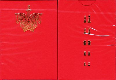 Knights Red Playing Cards Poker Size Deck USPCC Ellusionist Custom Limited New