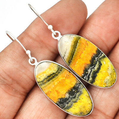 Indonesian Bumble Bee 925 Sterling Silver Earrings Jewelry ECPE733