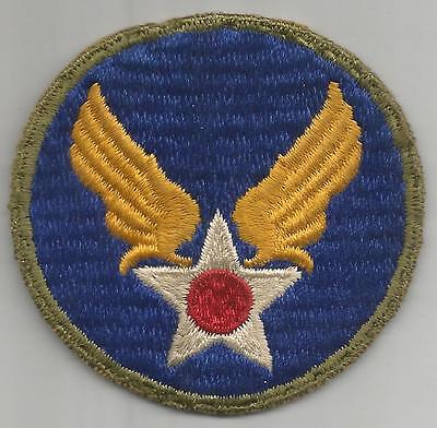 Off Uniform WW 2 AAF HQ OD Border Ribbed Weave Patch Inv# A443