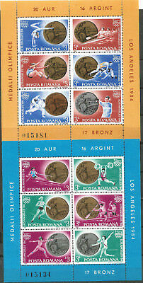 ROMANIA Scott# 3230/3231 MNH set. without Stamp hinges Olimpiada Los Angeles