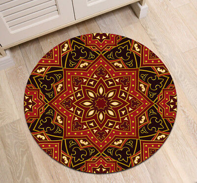 0603f0eee1 INDIA ETHNIC LOTUS Mandala Round Carpet Non Slip Home Decor Bedroom Zen  Yoga Mat -  12.99