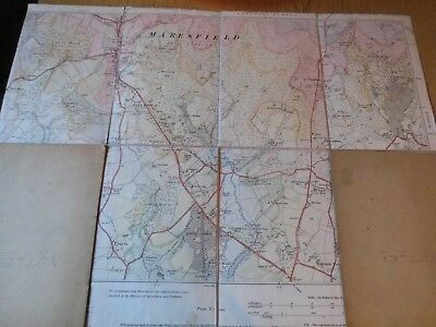 Nutley Village Sussex:1932: Unique Hand Coloured Map-Dissected & Mounted:os Base