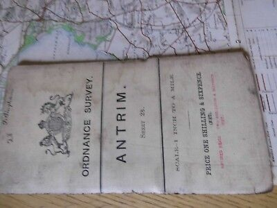 Ireland 1904 Antique Map-Antrim:north Before Partition-Railways-Rw Bingham's Map