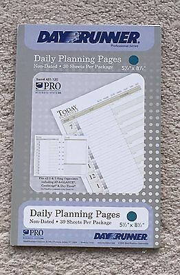 """Day Runner Non-Dated Daily Planning Pages 2-30 Sheet Packs  5 1/2"""" X 8 1/2"""""""