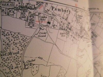 Pembury And Hastings Old Road:kent-Sussex: Planner's Map 1868-1951 Land Tax Used
