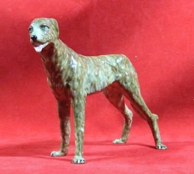 Muller-Volkstedt Dresden Irish Wolfhound Scottish Deer hound Porcelain Figurine