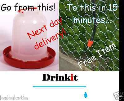 NEW chicken,poultry,waterer feeder drinker,increase egg