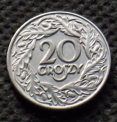 Old Coin Of Poland 20 Groszy 1923 Second Republic