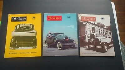 THE RESTORER 1966 lot of 3 vintage magazines Ford Model A  Look!