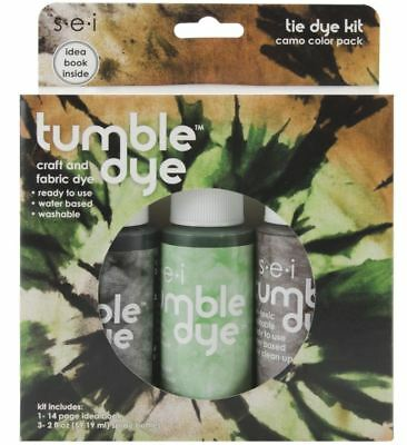 SEI Tumble Dry Tie Dye Kit - 1408 Camo Colour 3 Pack